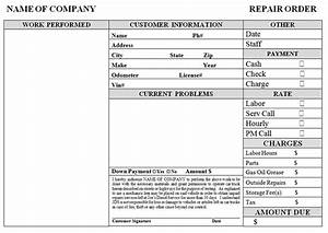 Auto repair template free printable documents for Florida auto repair invoice