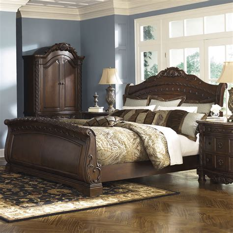 north shore sleigh bedroom set king size canopy bed frame