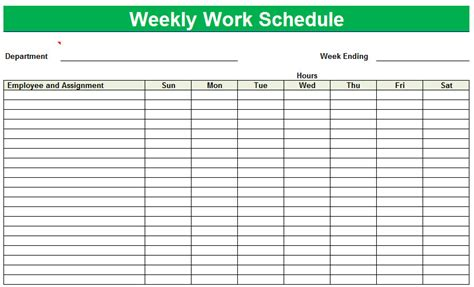 images printable blank employee schedules