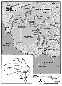 Map Of The Murray Basin Showing The Location Of The Study