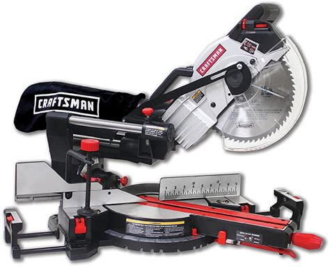 craftsman miter saw sliding compound sears compact laser saws mitre tools parts inch bevel trac rail system power tool deals