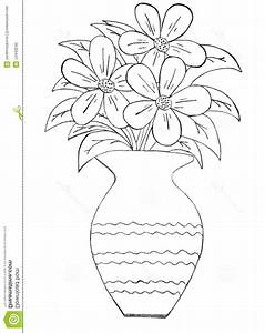 Drawn vase pencil drawing - Pencil and in color drawn vase ...