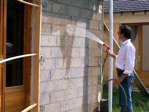 crepir un mur exterieur pratiquefr With crepir un mur exterieur au rouleau