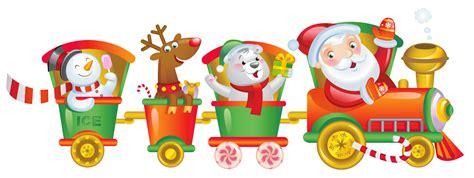 christmas train clipart   cliparts