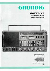 Operation Instructions User Manual For Grundig Satellite