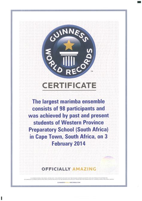 Guinness World Record Certificate Template by Guinness World Record Certificate Wpps