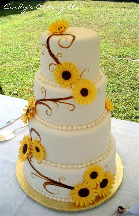 Best 25 Sunflower Wedding Cakes Ideas On Pinterest