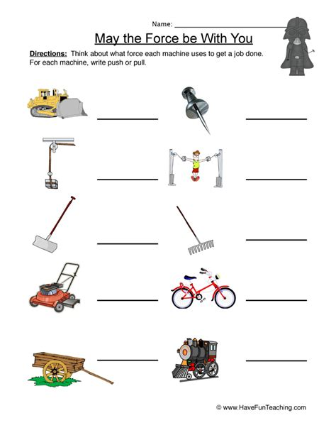 motion push and pull worksheets kindergarten motion best