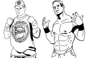John Cena of WWE Coloring Pages to Print