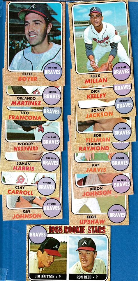Rule#5 spamming for information dont waste peoples time asking for appraisals if you already have the information, arent going to use the information at all, or if you want details about. 1968 Topps - BRAVES Near Complete TEAM SET/Lot (21/25)