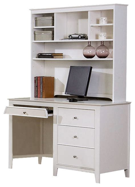 desk and hutch set youth white computer desk w hutch traditional kids