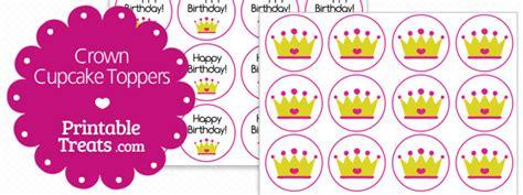 printable crown cupcake toppers printable treatscom