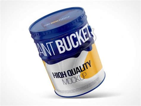 Free for personal and commercial use. Steel Paint Drum Bucket PSD Mockup - PSD Mockups