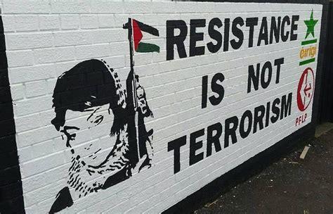 bureau belfast mural in celebrating palestinian resistance
