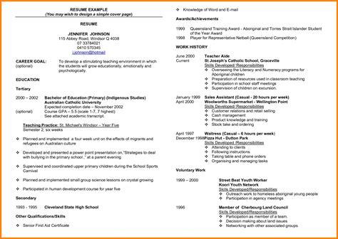 resume achievements student resume template student