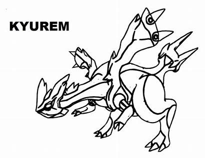 Pokemon Legendary Coloring Pages Kyurem Sheets Zekrom