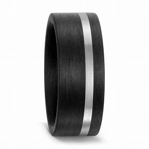 mens black carbon fibre wedding ring With carbon wedding ring