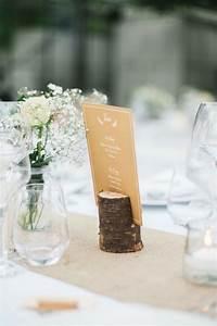 porte menu rondin de bois deco mariage diy decoration With deco entree de maison 15 urne mariage nature 5 deco