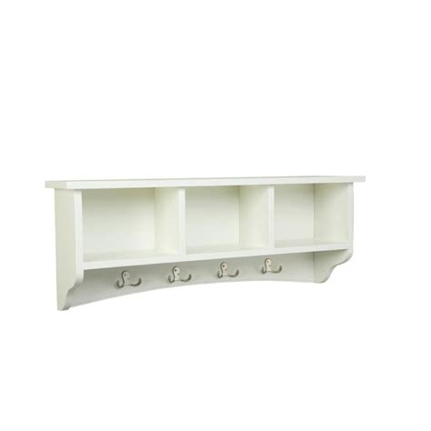 coat hooks with shelf alaterre furniture 14 in shaker cottage coat 8 hooks with