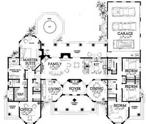 house plans with big bedrooms florida style house plans 2831 square foot home 1 story 4 bedroom and 3 bath 3 garage