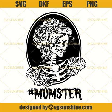Are you searching for sugar skull png images or vector? Momster SVG, Messy Bun Mom Skull SVG, Flower Skeleton SVG ...