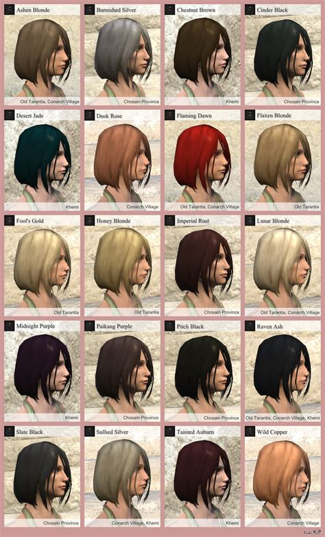 hair color style names hairdye color list henryx age of conan of hair 3690