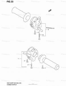 Suzuki Motorcycle 1999 Oem Parts Diagram For Handle Switch