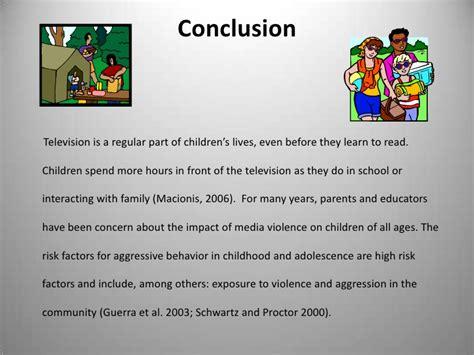 essay of media violence