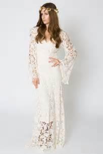 sleeve maxi dresses for weddings bell sleeve lace maxi dress bohemian wedding dresses dreamers and