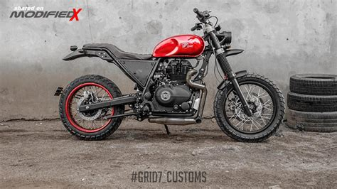 Modification Royal Enfield Himalayan by Modified Royal Enfield Himalayan By Grid7 Custom Modifiedx