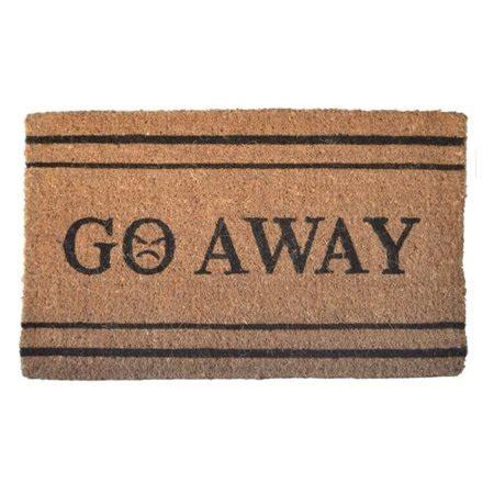 go away doormat imports decor creel go away doormat walmart