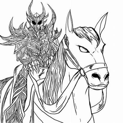 Skyrim Coloring Armor Daedric Orc Printable Sketches
