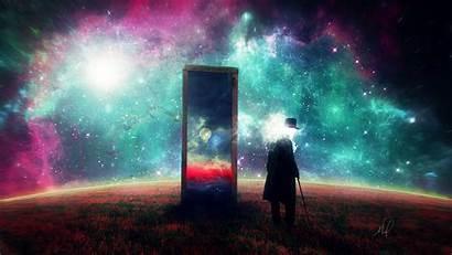 Space Surrealism Mirror Surreal Galaxy Dream Wallpapers