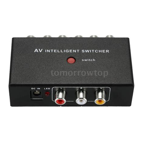 Harga Switcher Rca 2 port input 1 output audio av rca switch switcher