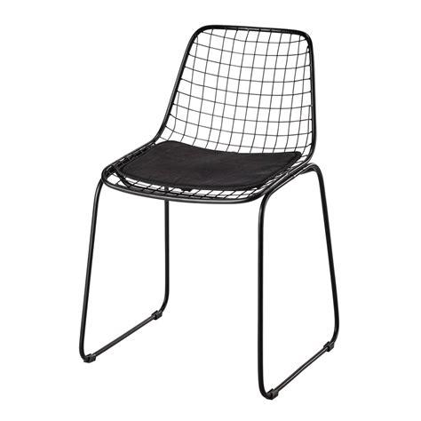 Chaise En Métal Noir Picpus  Maisons Du Monde