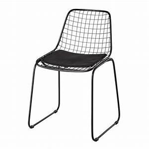 Chaise Noire Design : chaise en m tal noir picpus maisons du monde ~ Teatrodelosmanantiales.com Idées de Décoration