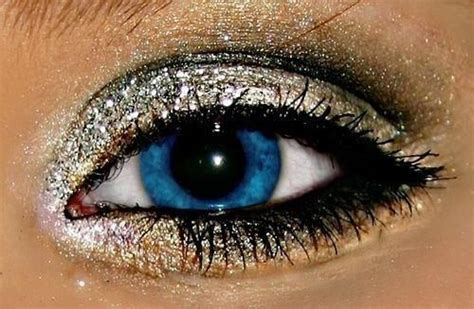 blue eye  silver glitter pictures   images  facebook tumblr pinterest