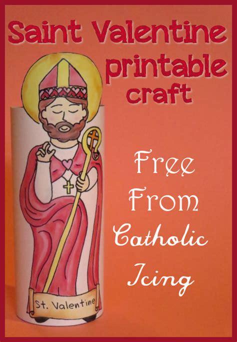 s day with catholic printable pack 198 | printable saint valentine craft for catholic kids