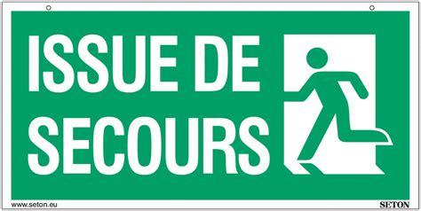 panneaux avec texte quot issue de secours quot gauche et droite seton fr