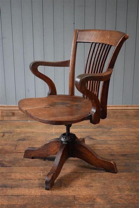 antique wooden swivel desk chair antique v intage wooden swivel captains chair office desk