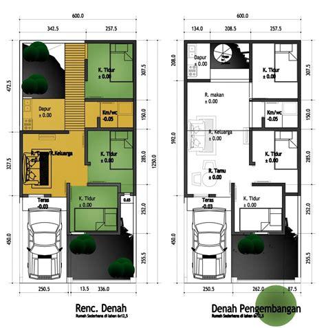 denah rumah minimalis  kamar tidur ukuran  desain