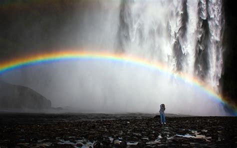 Waterfall And Rainbow Wallpapers Weneedfun