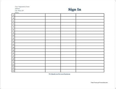 sign  sheet templates word excel  formats