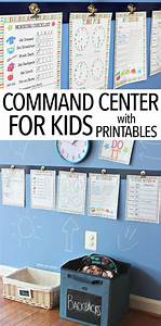 Printable Family Routine Chart Command Center For Kids Free Printables Home Command