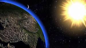 solar system animation! 3D animation earth moon and sun ...