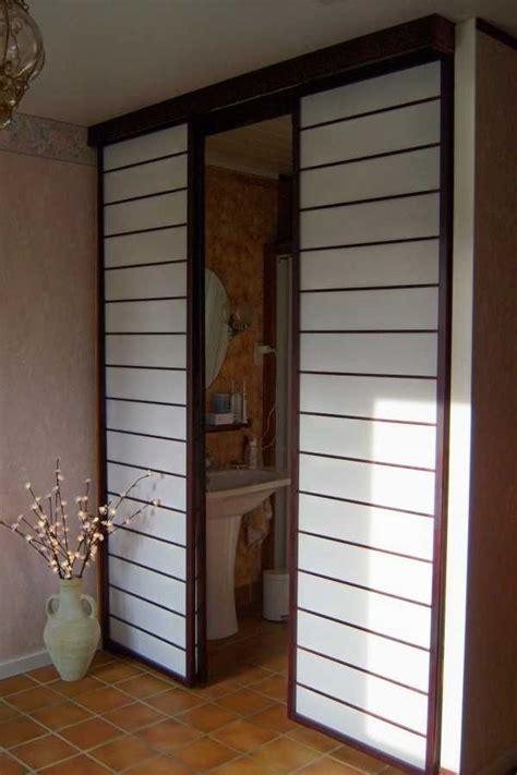 porte coulissante interieur cloison 1000 id 233 es sur le th 232 me porte coulissante japonaise sur portes de placard lit