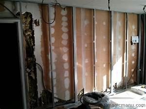 Doubler Un Mur En Placo Sur Rail : isolation et placo des murs de la cuisine ~ Dode.kayakingforconservation.com Idées de Décoration