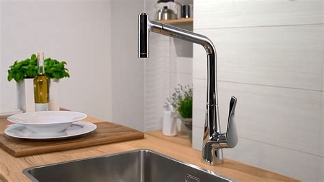 how to remove kitchen faucet hansgrohe metris single lever kitchen mixer 320 14820000