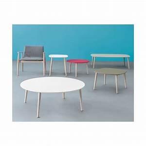 Table Basse Ronde Bois : table basse tout bois ronde plateau blanc ~ Teatrodelosmanantiales.com Idées de Décoration