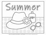 Coloring Hat Sunglasses Sunscreen Planerium Suncream sketch template